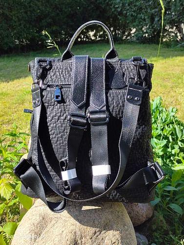 Рюкзак из натуральной кожи модель 409 (черный)
