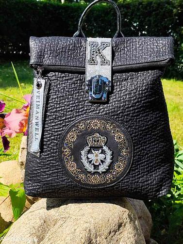 Рюкзак из натуральной кожи модель 411 (черный)