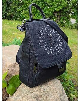 Рюкзак-трансформер из натуральной кожи модель 412 (черный)