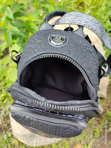 Рюкзак-трансформер из натуральной кожи модель 413 (черный)