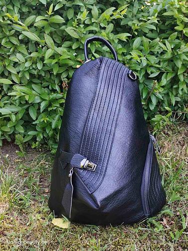 Рюкзак из натуральной кожи модель 417 (черный)