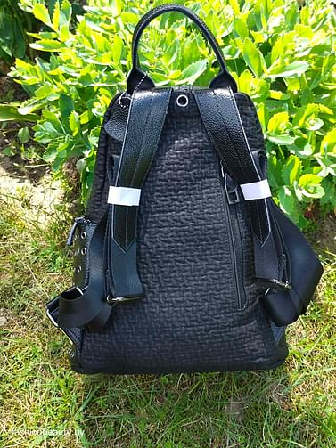 Рюкзак из натуральной кожи модель 418 (черный)