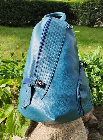 Рюкзак из натуральной кожи модель 420(тёмно-бирюзовый)