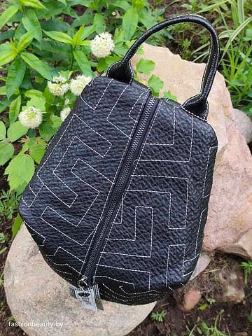 Рюкзак из натуральной кожи модель 421 (черный)