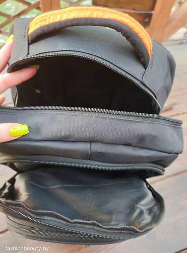 Рюкзак городской модель 425(черный/лайм)