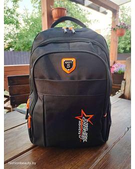 Рюкзак городской модель 425(черный/папайя)