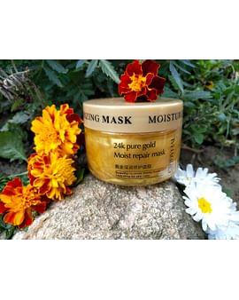 Питательная ночная маска для лица, с золотом и гиалуроновой кислотой, глубокое увлажнение, 120 мл CINDYNAL