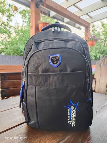 Рюкзак городской модель 425(черный/синий)