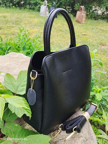 Сумка женская из натуральной кожи модель 427 (черный)