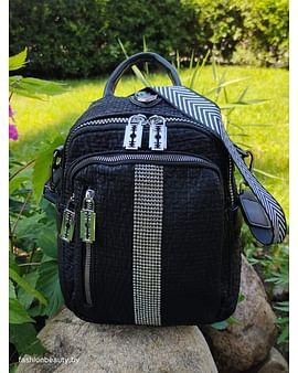 Рюкзак-трансформер из натуральной кожи модель 434 (черный)