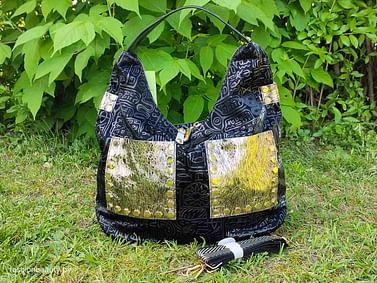 Сумка-шоппер из натуральной кожи модель 436 (черный)