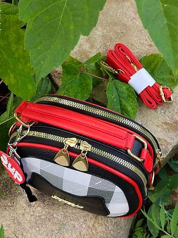 Сумка женская модель 442 KITTY (черный/красный)