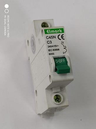 Выключатель автоматический реечный Elmark C45N 6.0KA 1Р – 3А