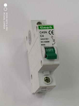Выключатель автоматический реечный Elmark C45N 6.0KA 1Р – 4А