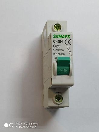 Выключатель автоматический реечный Elmark C45N 4.5KA 1Р – 25А
