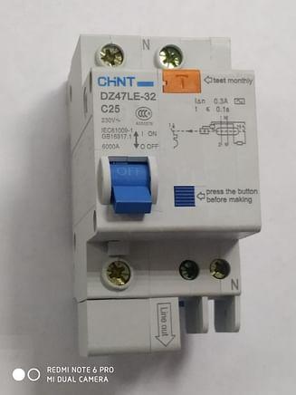 Дифавтомат CHINT DZ47LE-32 6KA 1Р+N 0.3A C25