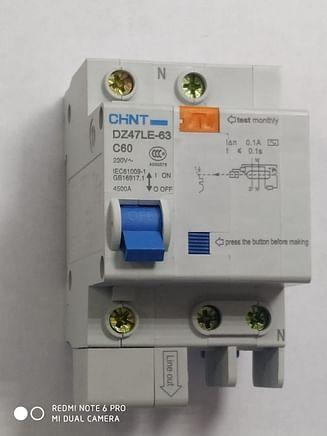 Дифавтоматы CHINT DZ47LE-63 4.5KA 1Р+N 0.1A C60