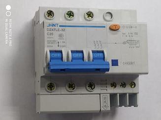 Дифавтомат CHINT DZ47LE-32 6KA 3Р+N 0.1A C20