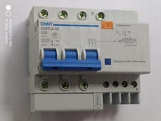 Дифавтомат CHINT DZ47LE-32 6KA 3Р+N 0.1A C25
