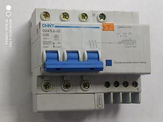 Дифавтомат CHINT DZ47LE-32 6KA 3Р+N 0.3A C25