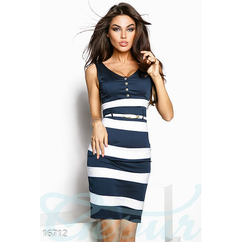 Платье в морском стиле Mix