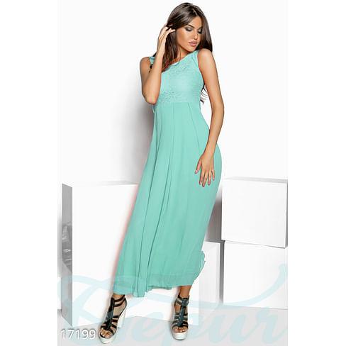 Изящное длинное платье Mix