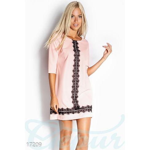 Платье с кружевом Colorful