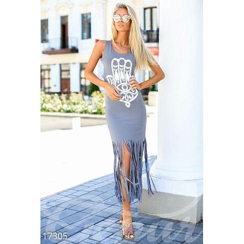 Платье с бахромой Sun kissed