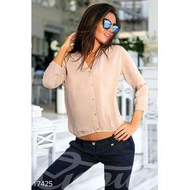 Нюдовая блуза Central park