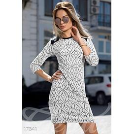 Жаккардовое платье-мини Symbol