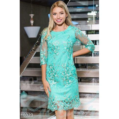 Вечернее платье с сеткой Simplicity