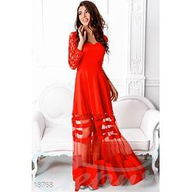 Вечернее платье-сетка Evening