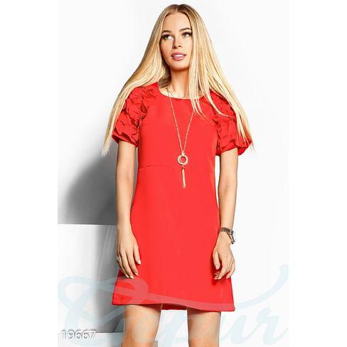 Платье с рюшами Sparkle