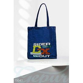 Джинсовая сумка-шоппер Signature