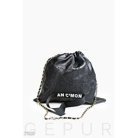 Кожаная сумка-мешок 90s rock