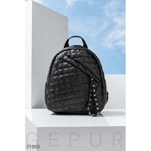 Стеганый рюкзак-сумка Leather trend