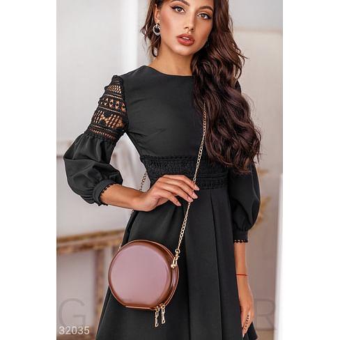 Круглая сумка-тоут Leather trend