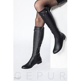 Демисезонные кожаные сапоги Warm outerwear
