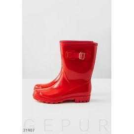 Трендовые красные сапоги Its raining
