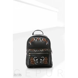 Рюкзак с вышивкой из эко-кожи Essential