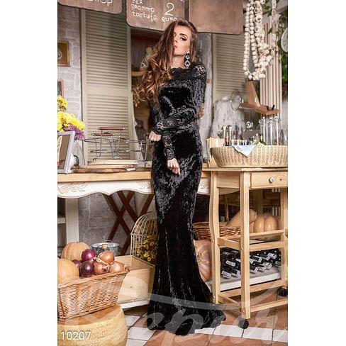 Бархатное платье-годе Little italy