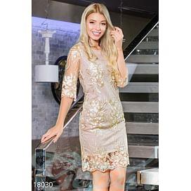 Вечернее платье-сетка Simplicity