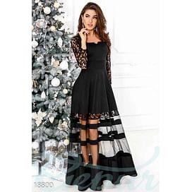 Платье с прозрачной юбкой Evening
