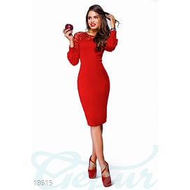 Платье с перфорацией Lady