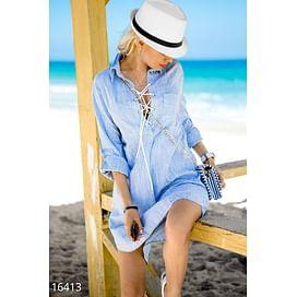 Свободное платье-рубашка Calipso
