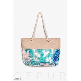 Пляжная сумка с пайеткой Beach wear