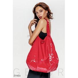 Яркая лаковая сумка Leather trend