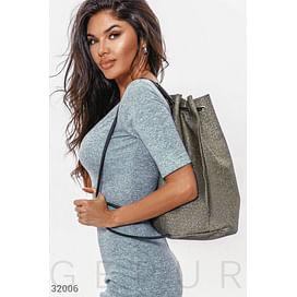 Вместительный серебристый рюкзак Warm favourites