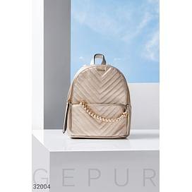 Стеганый небольшой рюкзак Leather trend