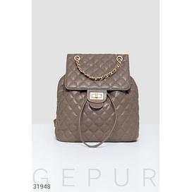 Стеганый городской рюкзак Leather trend